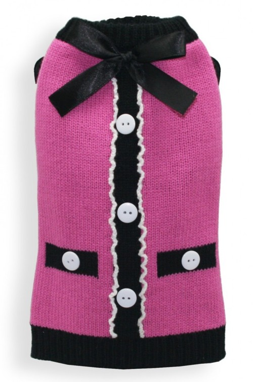 Hip doggie the socialite pink cardigan for Little hip boutique